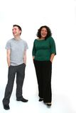 Jeunes couples - rire Image stock
