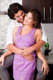 Jeunes couples romantiques Image libre de droits