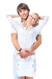 Jeunes couples romantiques Photographie stock libre de droits