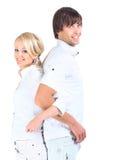 Jeunes couples romantiques Photo libre de droits