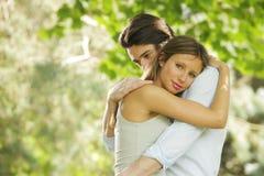 Jeunes couples romantiques Image stock