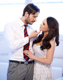 Jeunes couples romantiques Photographie stock