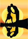 Jeunes couples romantiques photo stock
