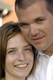 Jeunes couples romantiques heureux Photos stock