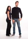 Jeunes couples sérieux Image stock