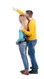 Jeunes couples se dirigeant à la vue arrière wal (femme et homme) Photo stock