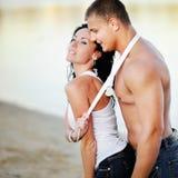 Jeunes couples sexy Images libres de droits