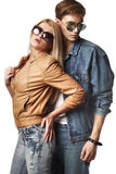 Jeunes couples sexy Photo stock