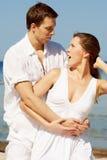 Jeunes couples stupéfaits Images libres de droits