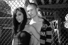 Jeunes couples urbains Images stock