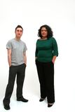 Jeunes couples urbains Images libres de droits
