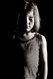 jeunes déprimés de fille Images libres de droits