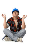 jeunes d'ouvrier de construction Images libres de droits