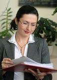jeunes de femme d'affaires Image libre de droits