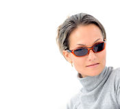 jeunes de femme de lunettes de soleil Images libres de droits