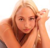 jeunes de femme de verticale Photos stock
