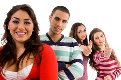 jeunes de gens de groupe Image libre de droits