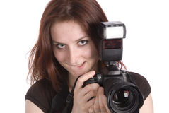jeunes de photographe Images stock