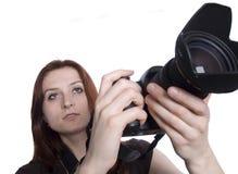 jeunes de photographe Photos libres de droits