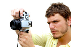 jeunes de photographe d'appareil-photo Image stock
