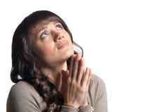 jeunes de prière de femme photographie stock libre de droits
