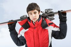 jeunes de skieur Photos stock