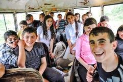 Jeunes de sourire en le Haut-Karabagh Image libre de droits