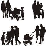 jeunes de vecteur de famille Photo libre de droits
