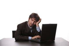 jeunes ennuyés d'homme d'affaires Photos stock