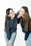 Jeunes et belles soeurs dans l'amitié Photographie stock