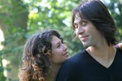 Jeunes et dans l'amour Image stock