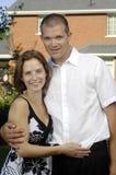 Jeunes et heureux couples romantiques Images libres de droits