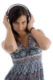 jeunes femelles d'écouteur Photo libre de droits