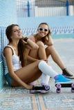 Jeunes femmes actives Photo libre de droits