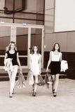 Jeunes femmes après l'achat Photos libres de droits