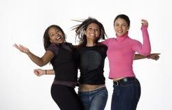 Jeunes femmes asiatiques, noires, et latines Image libre de droits