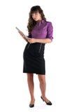 Jeunes femmes avec l'ordinateur portatif Images stock