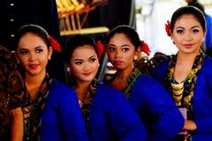 Jeunes femmes dans l'habillement de Javanese Photographie stock