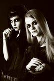 Jeunes femmes gothiques Photographie stock