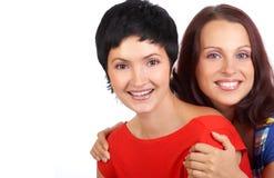 Jeunes femmes heureuses Images libres de droits