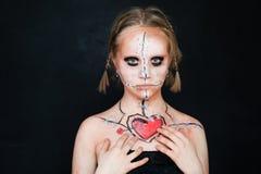 Jeunes filles avec le maquillage d'amour Photo libre de droits