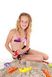 Jeunes filles dans l'usure de plage photo stock