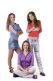 Jeunes filles heureuses Image stock