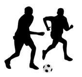 Jeunes footballeurs Photo libre de droits