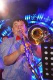 Jeunes génies du jazz à Olympia de club Images libres de droits