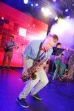 Jeunes génies du jazz à Olympia de club Images stock