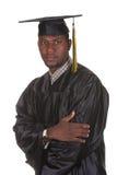 jeunes heureux d'homme de graduation Image stock