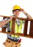 jeunes heureux de charpentier Image stock