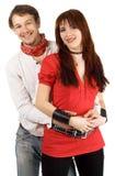 jeunes heureux de couples Photographie stock libre de droits