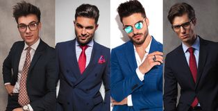 4 jeunes hommes différents d'affaires photographie stock